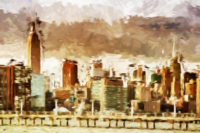 New York Architecture III - In the Style of Oil Painting-Philippe Hugonnard-Giclee Print