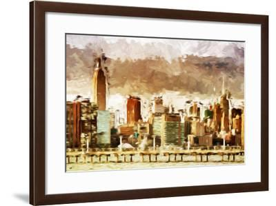New York Architecture III - In the Style of Oil Painting-Philippe Hugonnard-Framed Giclee Print