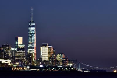 New York at Night X-James McLoughlin-Photographic Print