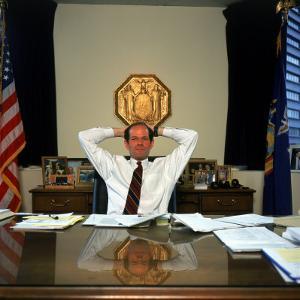 New York Attorney General Eliot Spitzer in His Manhattan Office at 120 Broadway