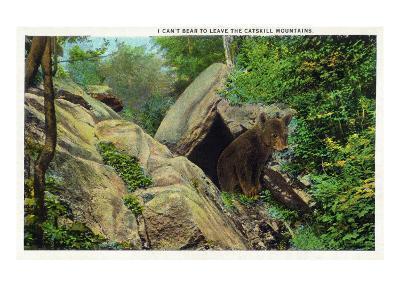 New York - Bear in the Catskill Mountains-Lantern Press-Art Print
