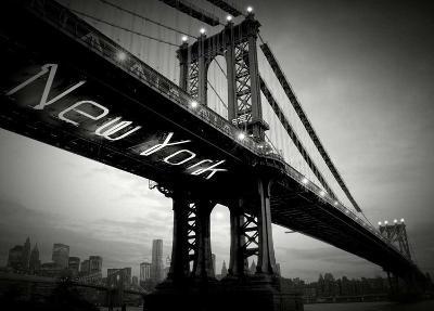 New York Bridge-Blonde Attitude-Art Print