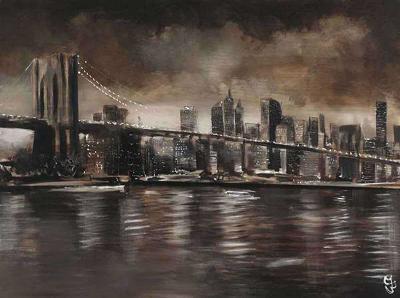 New York, Brooklyn Bridge-Yuliya Volynets-Art Print
