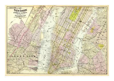 New York, Brooklyn, Jersey City, c.1891-Frederick W^ Beers-Art Print