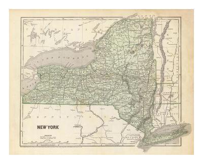 New York, c.1845-Sidney E^ Morse-Art Print