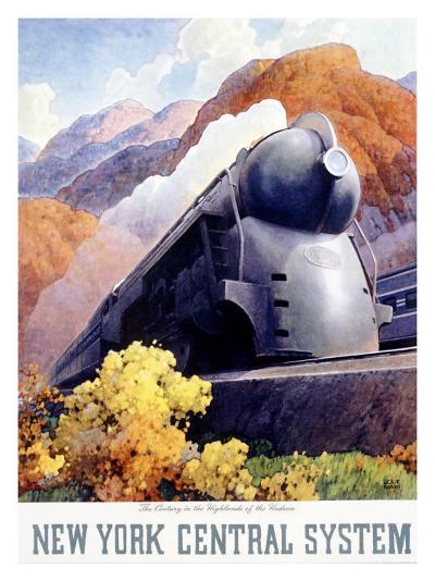 New York, Central Railroad Locomotive--Giclee Print