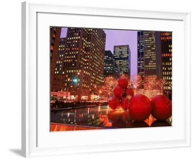 New York City at Christmas at Night, NY-Rudi Von Briel-Framed Photographic Print