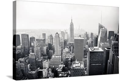 New York City Black and White--Stretched Canvas Print