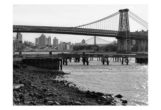 New York City Bridges 1-Sandro De Carvalho-Art Print