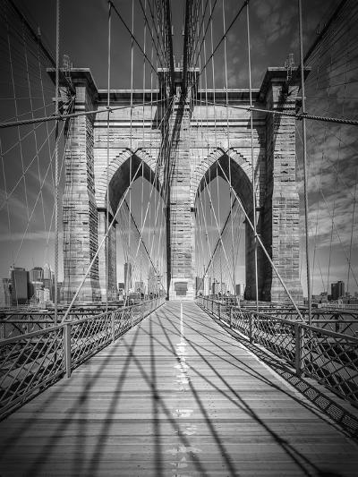 New York City Brooklyn Bridge In Detail-Melanie Viola-Art Print