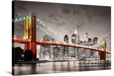 New York City Brooklyn Bridge--Stretched Canvas Print