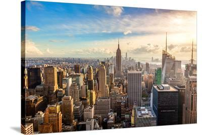 New York City Good Morning--Stretched Canvas Print