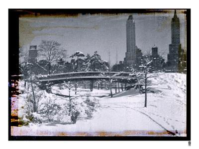 New York City In Winter V-British Pathe-Giclee Print