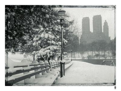 New York City In Winter VIII-British Pathe-Giclee Print