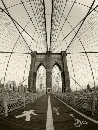 New York City, Manhattan, Brooklyn Bridge at Dawn, USA-Gavin Hellier-Photographic Print