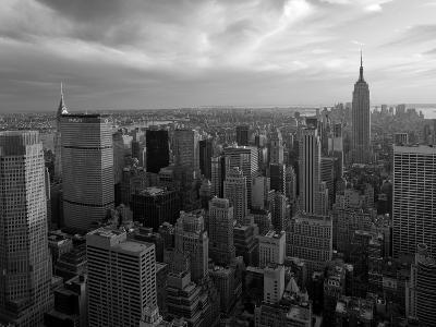 New York City, Manhattan, View of Downtown and Empire State Building from Rockerfeller Centre, USA-Gavin Hellier-Photographic Print