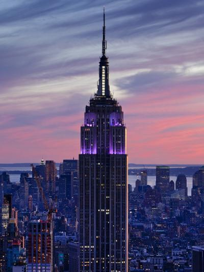 New York City, Manhattan, View Towards Downtown; Empire State Building from Rockerfeller Centre, US-Gavin Hellier-Photographic Print