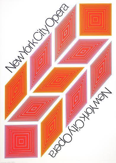New York City Opera-Richard Anuszkiewicz-Serigraph