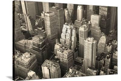 New York City Sepia--Stretched Canvas Print