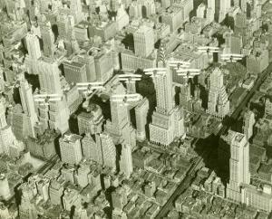 New York City, Skyline and Biplanes