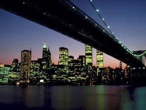 New York City Skyline and the Brooklyn Bridge