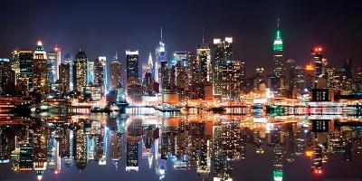 New York City Skyline at Night-Deng Songquan-Art Print