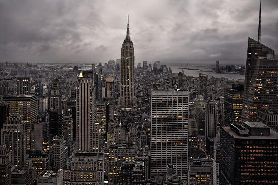New York City skyline from above, New York, United States of America, North America-David Rocaberti-Photographic Print
