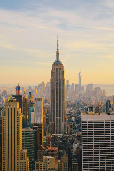 New York City Skyline with Urban Skyscrapers at Sunset-Irina Kosareva-Photographic Print