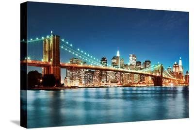 New York City Skyline--Stretched Canvas Print