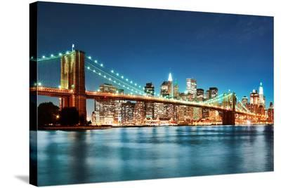 New York City Skyline--Stretched Canvas Print