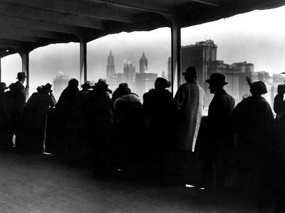 New York City Skyline-Edwin Levick-Photographic Print
