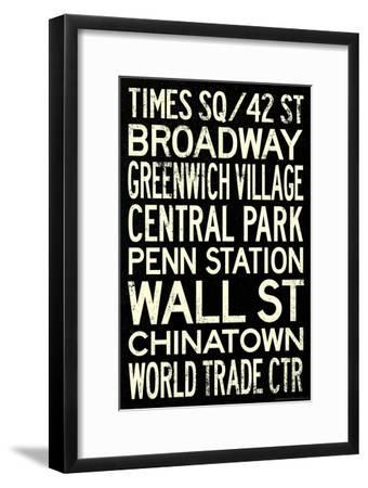 New York City Subway Style Vintage Travel Poster