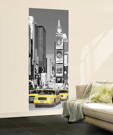 New York City Taxis in Times Square Mural
