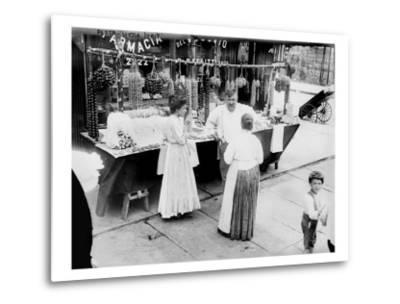 New York City, Vendor with Wares Displayed, Little Italy, 1900s