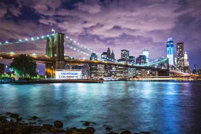 New York City with Dramatic Cloud Cover.-SeanPavonePhoto-Photographic Print