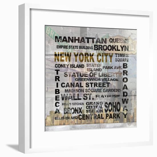 New York City-Alicia Soave-Framed Art Print