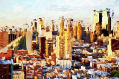 New York Cityscape II - In the Style of Oil Painting-Philippe Hugonnard-Giclee Print