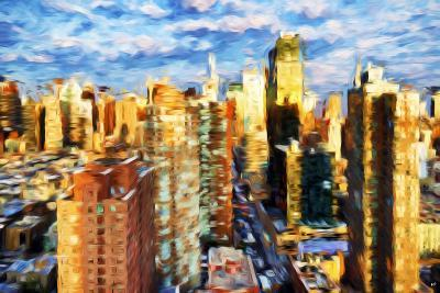 New York Cityscape III - In the Style of Oil Painting-Philippe Hugonnard-Giclee Print