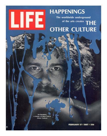 New York Counter Culture Leader Ed Sanders, February 17, 1967-John Loengard-Photographic Print
