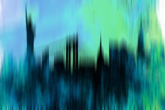 New York Downtown Skyline-NaxArt-Art Print