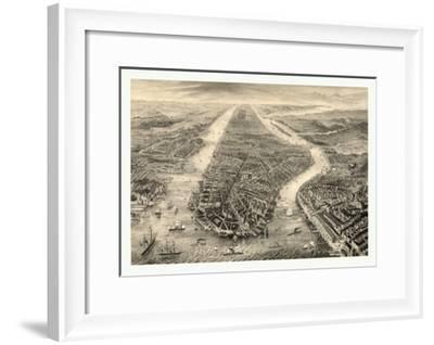 New York Engraved, N.Y. Circa 1867, USA, America--Framed Giclee Print