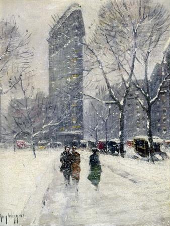 New York: Flatiron, 1919-Guy Wiggins-Giclee Print