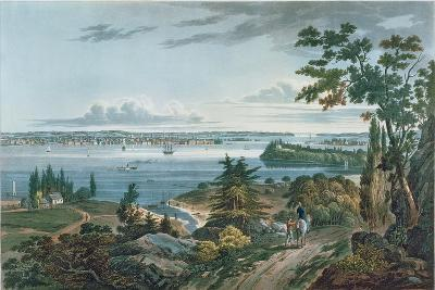 New York from Weehawk, Engraved by I. Hill, 1820-3-William Guy Wall-Giclee Print