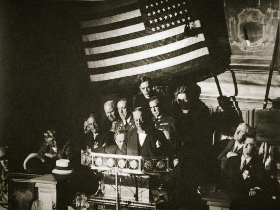 New York Governor Al Smith accepting the Democratic nomination for the Presidency, 1928-Unknown-Photographic Print