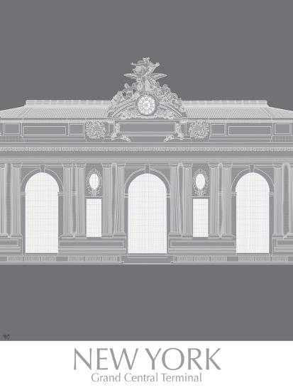 New York Grand Central Monochrome-Fab Funky-Art Print