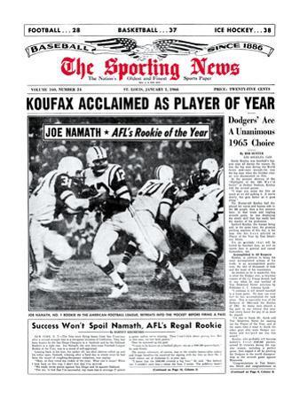 New York Jets' QB Joe Namath - January 1, 1966