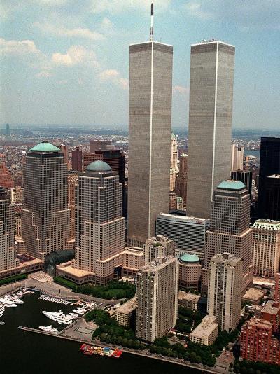 New York Landmarks Twin Towers-Ed Bailey-Photographic Print