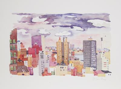 New York Landscape 4-Jacqueline Fogel-Limited Edition