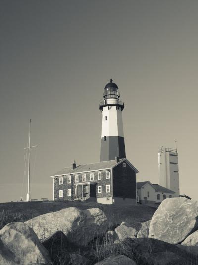 New York, Long Island, Montauk, Montauk Point Lighthouse, USA-Walter Bibikow-Photographic Print