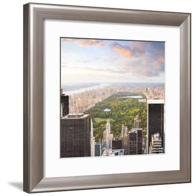New York Manhattan at Sunset - Central Park View-dellm60-Framed Photographic Print